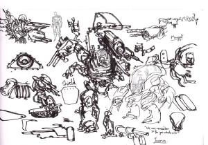 Kali Mech Sketches - Matt Sheill