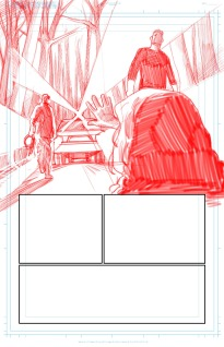 Page 1 Pencilling Panel 1