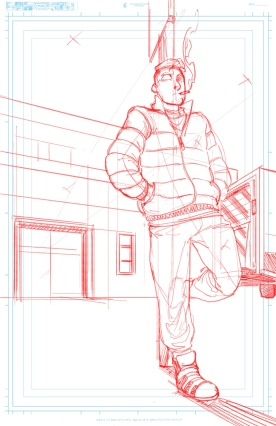 Title Page Pencils Leaning on Fence