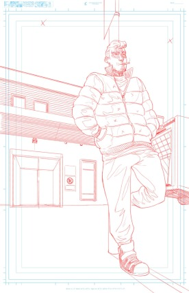 Title Page Tight Pencils Leaning on Fence